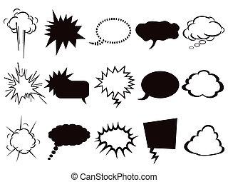 氣泡, 集合, 演說, 圖象