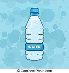 水のビン, イラスト, プラスチック