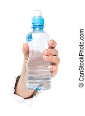 水のビン, 手