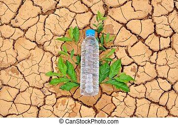 水のビン, 背景, 乾燥している, 飲むこと