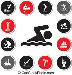 水スポーツ, アイコン