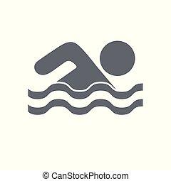 水スポーツ, 水泳, アイコン