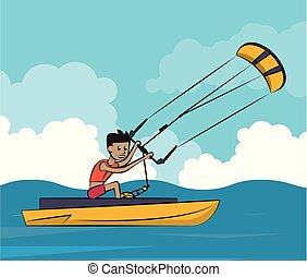 水スポーツ, kiteboating