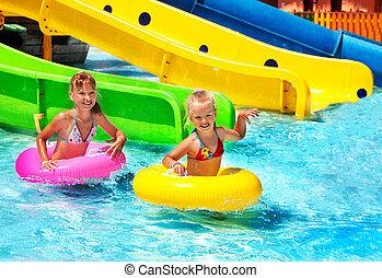 水スライド, 子供, aquapark.