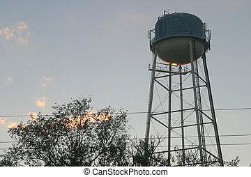水タワー, 日没