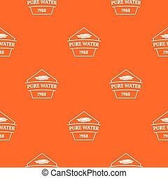 水パターン, ベクトル, 純粋, オレンジ