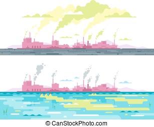 水プラント, 汚染, 空気