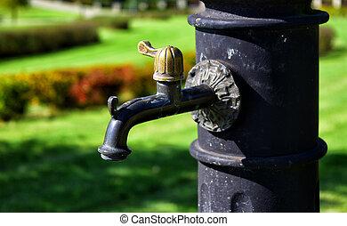 水ポンプ, 古い, 手