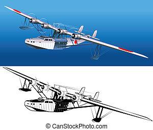 水上飛行機, 30-s, レトロ