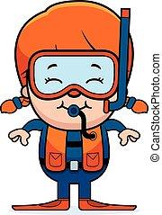 水下呼吸器潛水員, 女孩