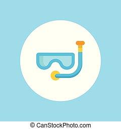 水下通气管, 矢量, 圖象, 簽署, 符號