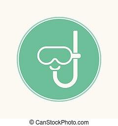 水下通气管, 符號, 矢量, 圖象, 簽署
