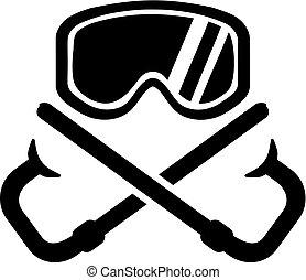 水下通气管, 面罩, 由于, 橫渡, 廢氣管