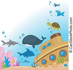 水中, 動物