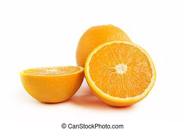 水分が多い, オレンジ, フルーツ