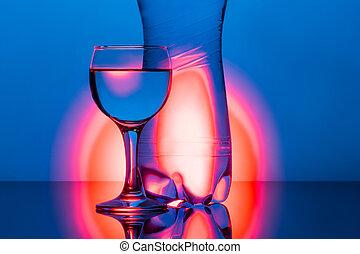 水反映, 背景, 玻璃