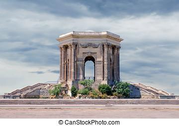 水塔, 在, peyrou, 花園