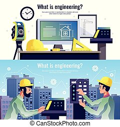 水平なバナー, 工学