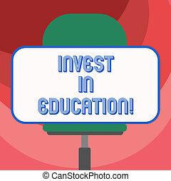 水平に, 旋回装置, 資金, 長方形, モデル, 供給しなさい, 写真, ステッカー, education., 印, 形, 提示, 大学, スポンサー, 学生, ブランク, 概念, 投資しなさい, テキスト, 同意する, chair.