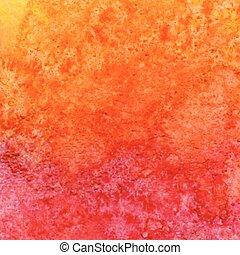 水彩画, オレンジ, ベクトル, 背景