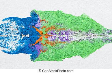 水彩画, バックグラウンド。, 抽象的