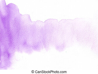 水彩画, バックグラウンド。, 抽象的, 白