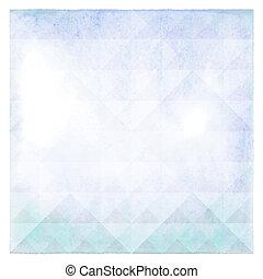 水彩画, パターン, 抽象的, 三角形