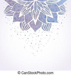 水彩画, パターン, 花, イラスト, すみれ
