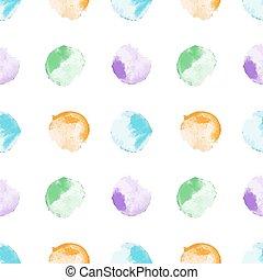 水彩画, パターン