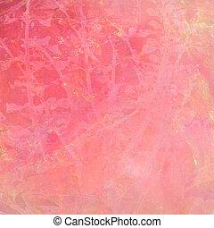 水彩画, ピンク, 抽象的, 背景, textured