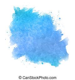 水彩画, ペイントされた, 抽象的, スポット, 背景