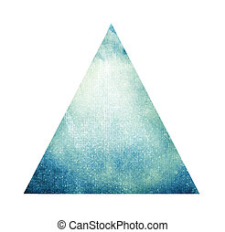 水彩画, 三角形, 白