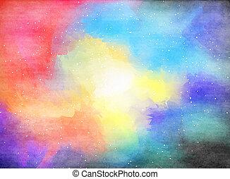 水彩画, 外の, space.