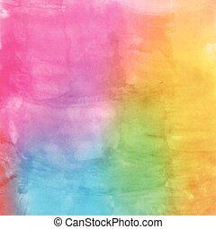 水彩画, 多色刷り