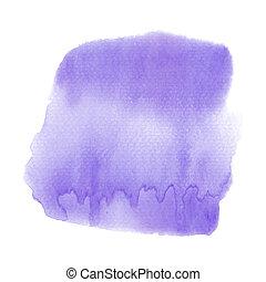 水彩画, 抽象的, 白い背景, すみれ