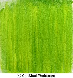 水彩画, 抽象的, 緑, 春, 背景