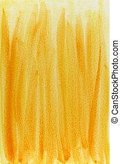 水彩画, 抽象的, 黄色, 背景