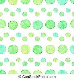 水彩画, 点, seamless, パターン
