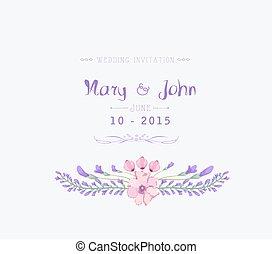 水彩画, 結婚式の招待