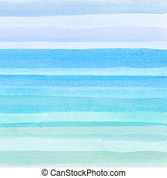 水彩画, 背景