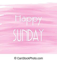 水彩画, 背景, ピンク, 日曜日, 幸せ