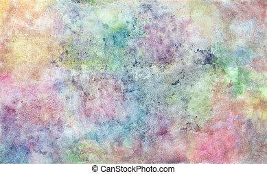 水彩画, 背景, 抽象的