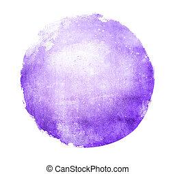 水彩画, 背景, 白い円
