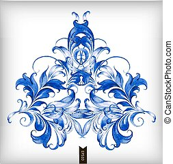 水彩画, 青, ベクトル, background?