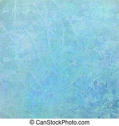 水彩画, 青, 抽象的, 背景, textured