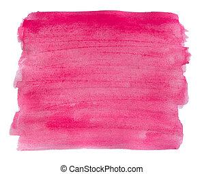 水彩, 粉紅色, 背景。