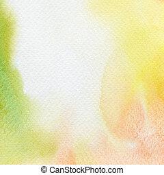 水彩, 繪, 摘要, 背景