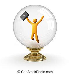 水晶球, -, ビジネス, 成功