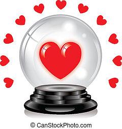 水晶球, 愛