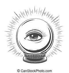 水晶球, 目